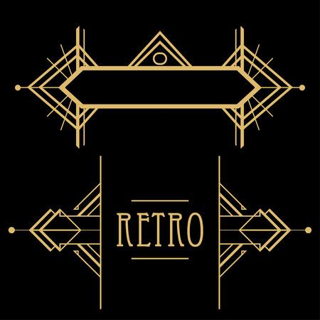 kunst: Art-Deco-geometrisches Muster (Stil der 1920er)