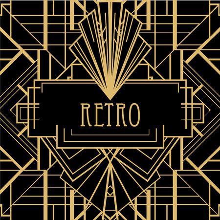 아르 데코 기하학적 인 패턴 (1920 년대 스타일) 스톡 콘텐츠 - 43572962
