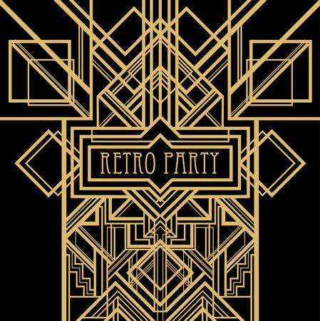 deco: Art deco geometric pattern (1920s style) Illustration