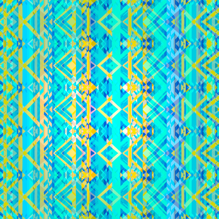 ornamental pattern: Ethnic zigzag pattern in retro colors, aztec style seamless vector background Illustration