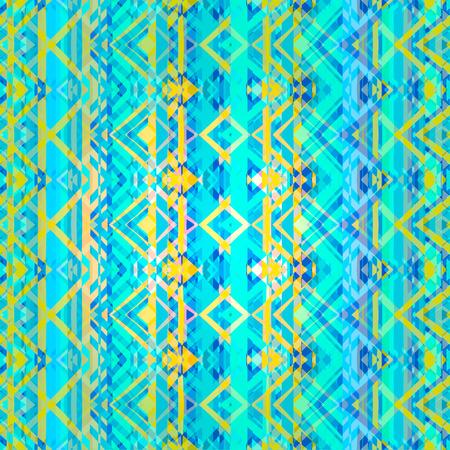 abstrakte muster: Ethnische Zickzack-Muster im Retro-Farben, aztekische Stil nahtlose Vektor Hintergrund