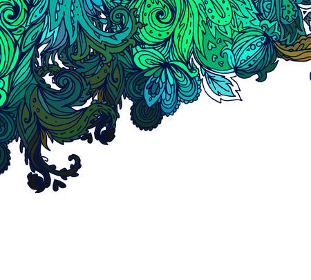 paisley seamless pattern: Beautiful ornate floral paisley seamless pattern