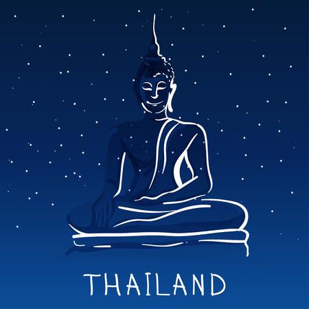 templo: Mundial famosa serie de punto de interés: Estatua de Buda sentado, Tailandia