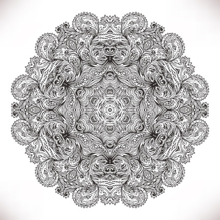 tantra: Mandala. Beautiful vintage round pattern in vector.