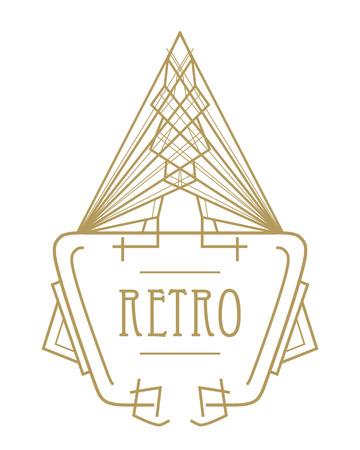 Art deco geometric pattern (1920's style)
