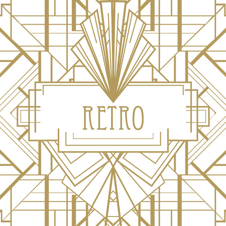 アールデコの幾何学的なパターン (1920 年代スタイル)
