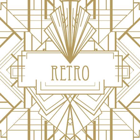 Art deco geometric pattern (1920s style) Иллюстрация
