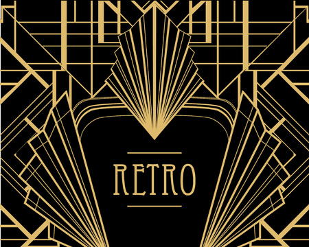 art deco: Art deco geometric pattern (1920s style) Illustration