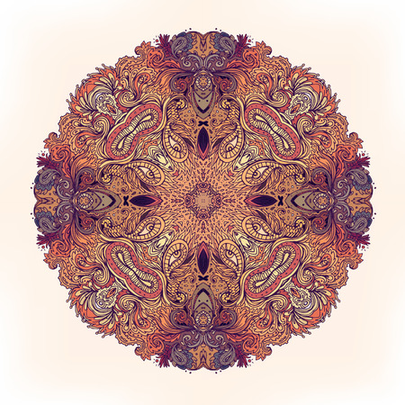 ayurveda: Mandala. Beautiful vintage round pattern Illustration