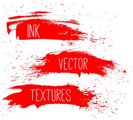 splatter: Ink texture set. Illustration