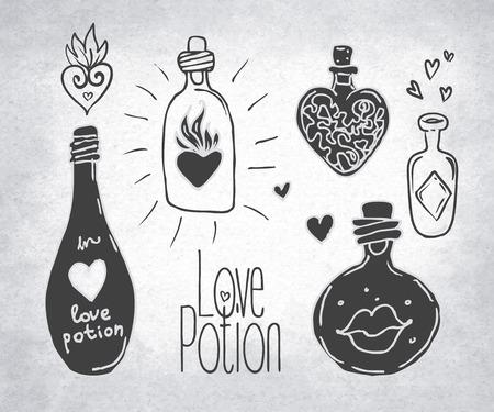potion: Love potion illustration. Illustration