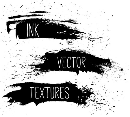 splatter paint: Ink texture set. Illustration