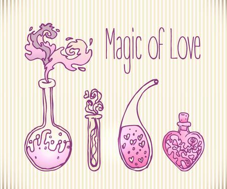 pocion: Amor ilustraci�n poci�n.