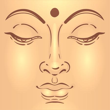 sanctuaries: Sitting Buddha over ornate mandala round pattern