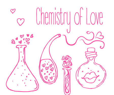 potion: Love potion illustration. Illustration