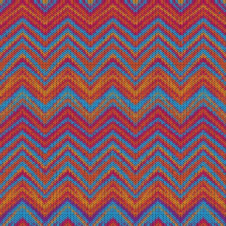 style background: Ethnic zigzag pattern in retro colors, aztec style background Illustration