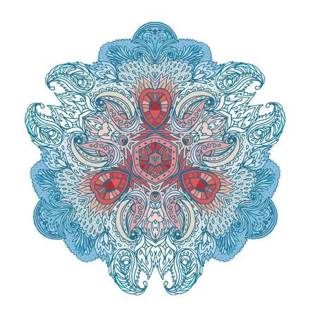 tantra: Mandala. Beautiful vintage round pattern Illustration