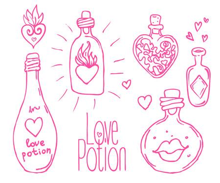 pócima: Amor ilustración poción.