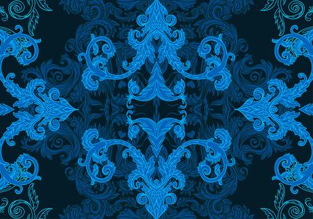 pattern antique: Seamless vintage background brown baroque pattern