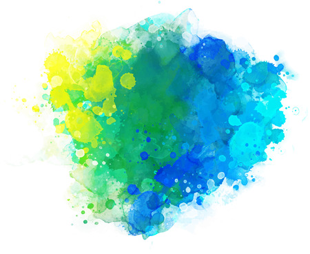 Abstract vector watercolor background isolated on white.  イラスト・ベクター素材