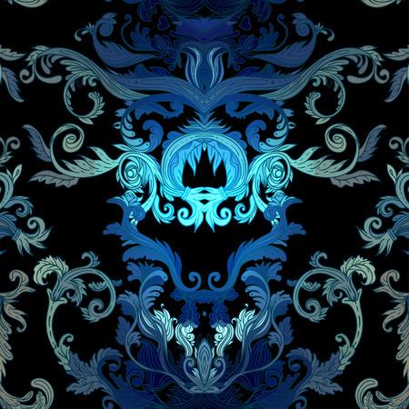 victorian vintage: Seamless vintage background brown baroque pattern