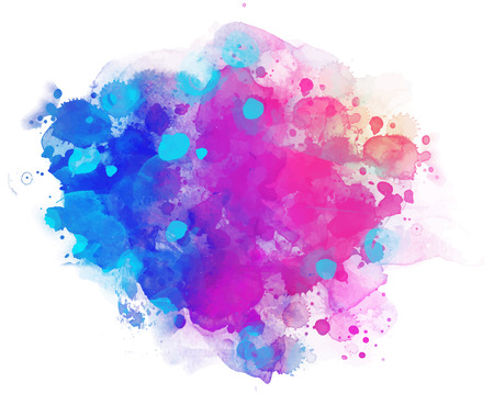 Abstract vector watercolor background isolated on white. Vectores
