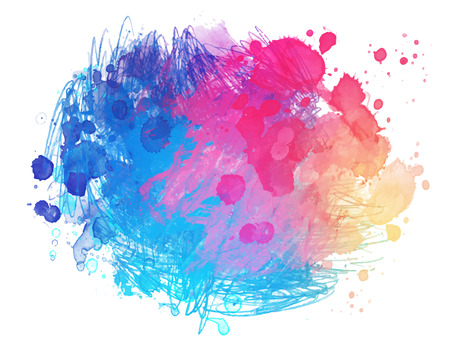 Abstract vector watercolor background isolated on white. Vettoriali