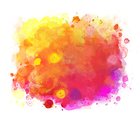 Abstract vector watercolor background isolated on white. Stock Illustratie