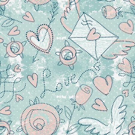 patten: Valentines day seamless patten, vector illustration
