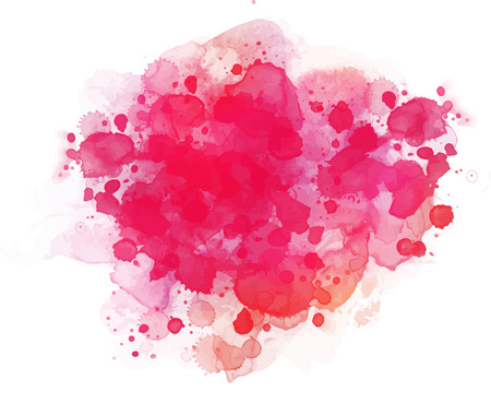 Abstract vector watercolor background isolated on white. Illustration