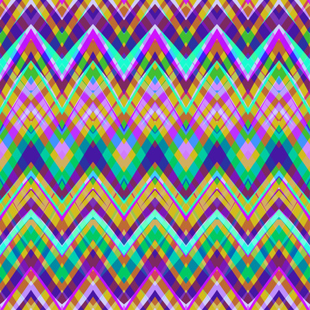 Ethnic zigzag pattern in retro colors, aztec style seamless vector background. Africa inspired backdrop.