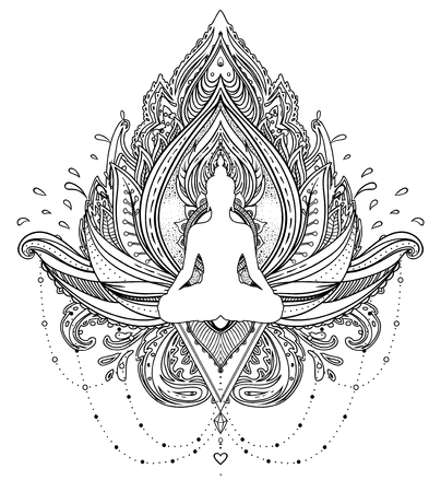 2072 Buddha Tattoo Stock Illustrations Cliparts And Royalty Free