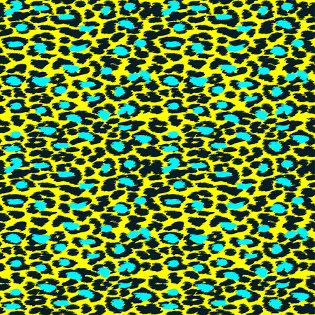 Trendy Leopard or cheetah skin seamless pattern, animal fur background, vector background in neon colors. Fabric design, wrapping paper, textile.