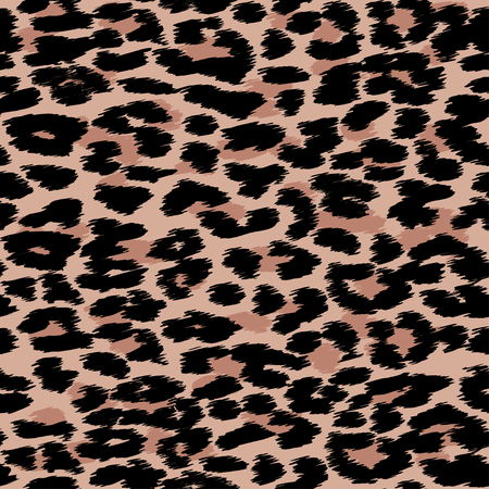 Trendy Leopard or cheetah skin seamless pattern, animal fur background, vector background in neon colors. Illustration
