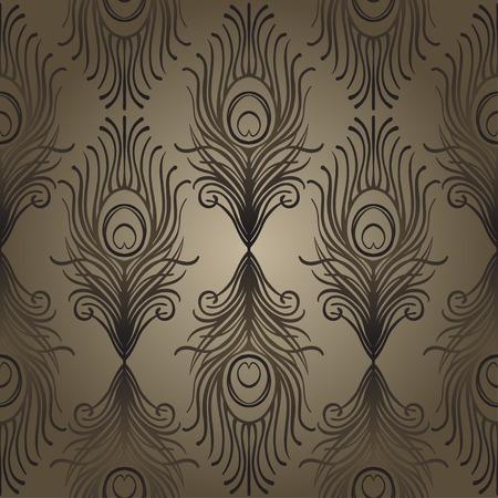 Modelo inconsútil geométrico del estilo del art déco en negro y oro. Ilustración vectorial El rugido del diseño de 1920 Era de jazz inspirada. 20's Tela vintage, textil, papel de embalaje, papel pintado. Dibujado a mano retro.