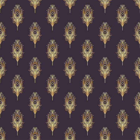 Art deco style geometric seamless pattern in black and gold. Vector illustration. Roaring 1920s design. Jazz era inspired . 20s. Vintage Fabric, textile, wrapping paper, wallpaper. Retro hand drawn.