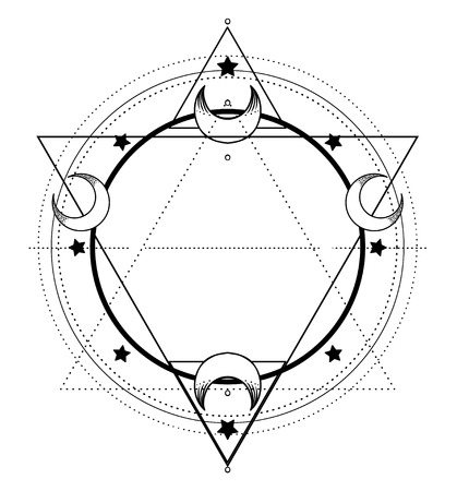 Moon frame. Sacred Geometry.