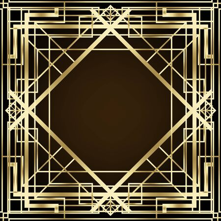 Art Deco vintage patterns and design elements.