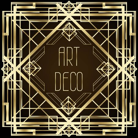 Modelli vintage Art Deco ed elementi di design.