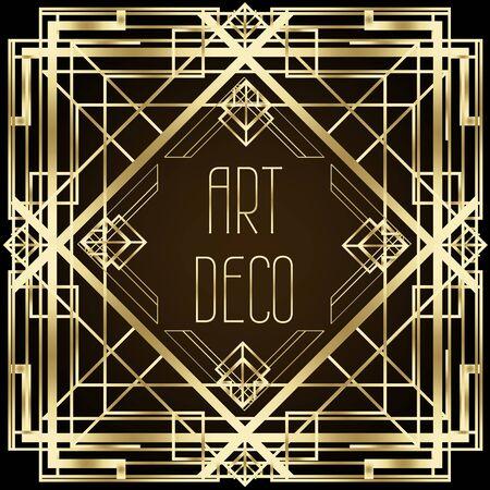 Patrones vintage Art Deco y elementos de diseño.