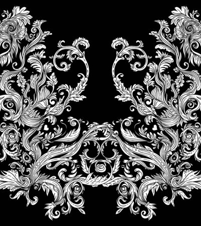 Vintage baroque floral pattern.
