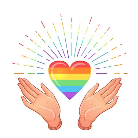 Rainbow colored icon. Gay Pride. LGBT concept. Realistic style vector colorful illustration isolated
