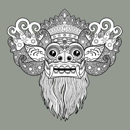 Barong. Traditional ritual Balinese mask.