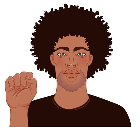 Black Lives Matter. Realistic style vector illustration isolated. Sticker, patch, poster design.