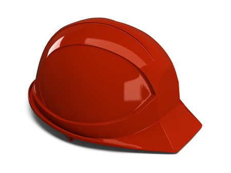 safeguarded: Construction helmet on a white background