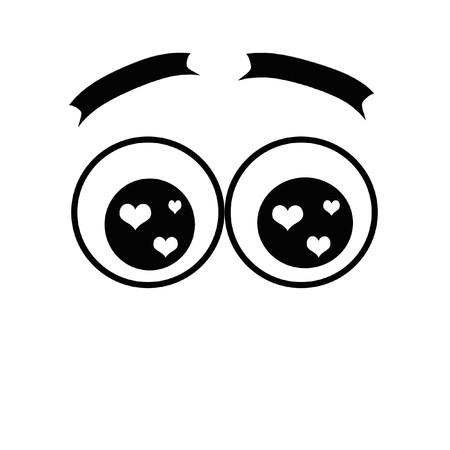round eyes: round eyes with hearts
