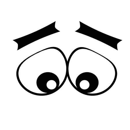 round eyes: round eyes from glare look down. elegant eyebrows