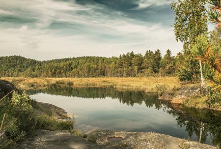 neroyfjord: Autumn lake in Norway