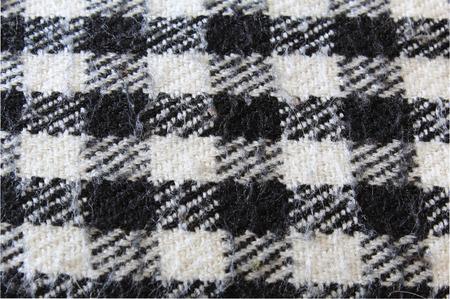 onlays: Blanco y negro Tela escocesa controlada