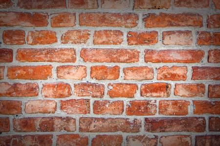 Background made of red brick wall. Standard-Bild